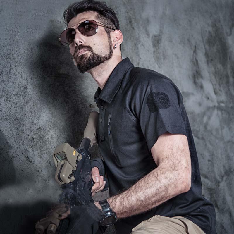 Фритюрница MILE Мужская тактическая футболка с карманом (Фото 5)