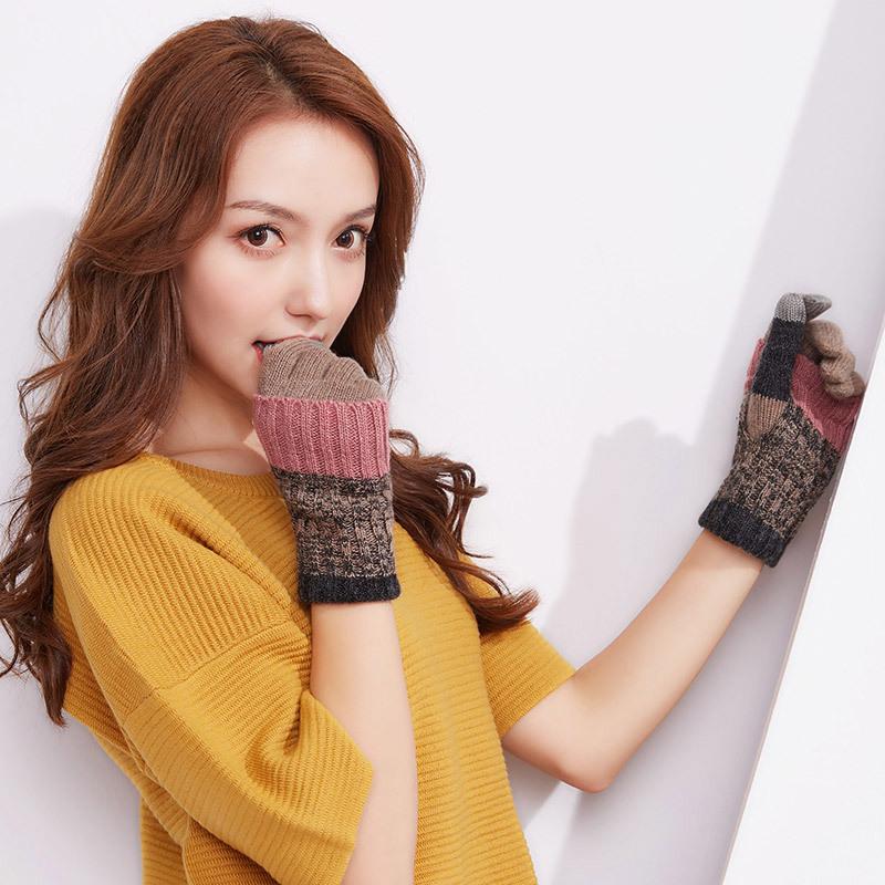 Фритюрница MILE Женские перчатки из флиса осень-зима (Фото 6)