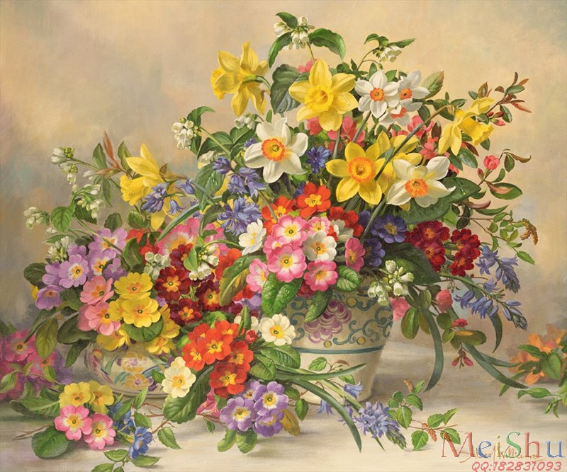 ��ӡˢ����YH4123349�ͻ�ͼƬ�ִ������ʻ�Spring Flowers and Poole Pottery-46M-4395X3668