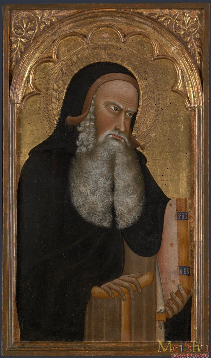 【欣赏级】YH4124812宗教人物油画图片Saint Anthony Abbot圣安东尼阿博特 probably about 1350, Giovanni di Nicola-30M-2498X4