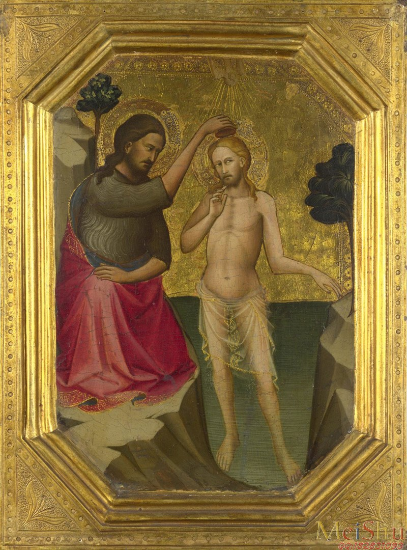 ��ӡˢ����YH4124890�ڽ������ͻ�ͼƬThe Baptism of Christ����ϴ��1387-8, Attributed to Lorenzo Monaco-91M-4650X6279