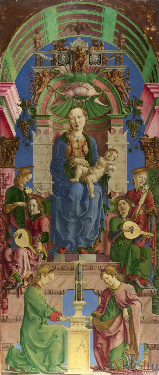 �����ͼ���YH4125904�ͻ��ڽ̴���ʥĸʥ��ͼƬThe Virgin and Child Enthronedʥĸ��mid-1470s, Cosimo Tura-21M-1788X4226