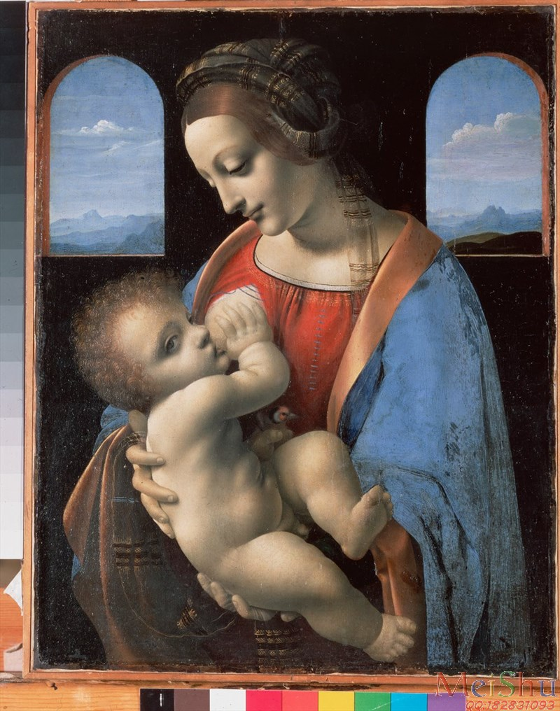 ��ӡˢ����YH51150633�ͻ��ڽ�ʥĸ����������ͼƬLeonardo da Vinci_1490_The Madonna and Child (The Litta Madonna)-100M-52