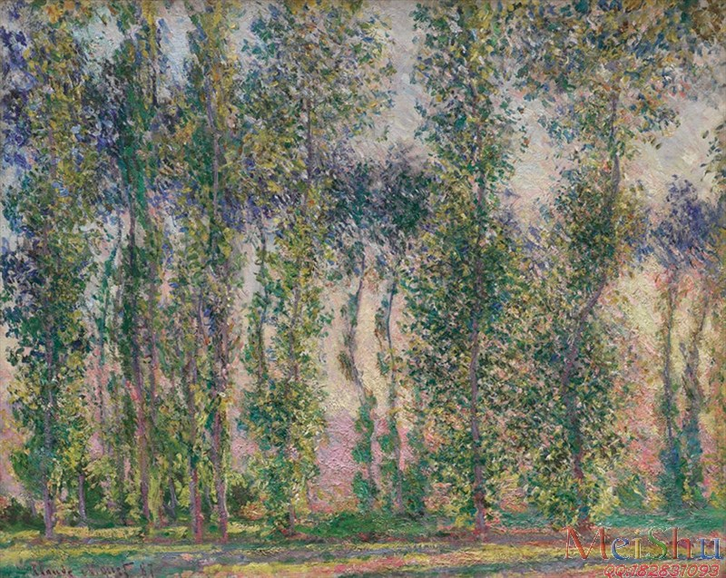 ����ӡ����YH4127588ӡ�����ͻ�ͼƬ�羰Claude Monet - Poplars at Giverny (1887)-23M-3180X2530