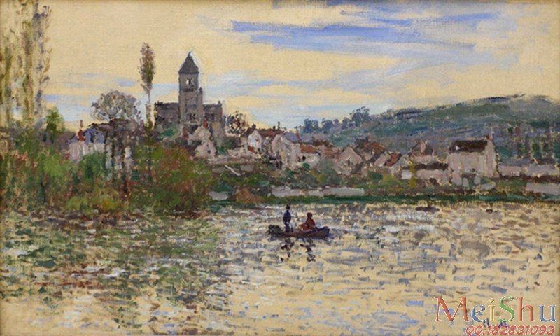 �����ͼ���YH4127642ӡ�����ͻ�ͼƬ�羰Claude Monet - The Seine at Vetheuil 3 (1879)-15M-2957X1776
