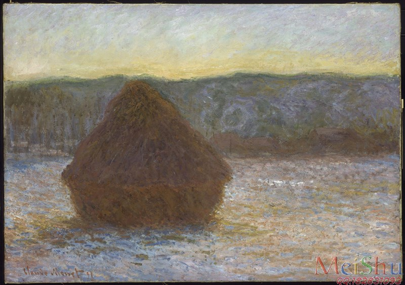 ��ӡˢ����YH50915715ӡ�����ͻ��羰ͼƬ������Ī��Claude Monet (French, 1840-1926)Stack of Wheat (Thaw, Sunset), 1890-1-7
