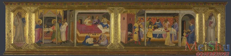 【印刷级】YH51136266油画宗教场景场所图片Scenes from the Life of Saint John the Baptist生活场景的圣施洗约翰probably 1387, Nic