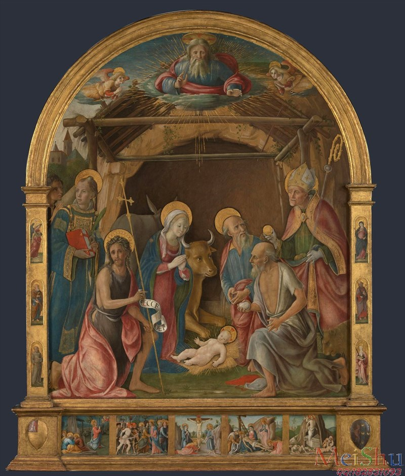 ║╬с║к╒╪╤║©YH51136299см╩╜вз╫лЁ║╬╟Ё║кЫм╪ф╛The Nativity with Saints Altarpiece ╪юлЁ╩╜ ╩Ы╤╫╣╝иЗсКй╔м╫-44M-3657X4291