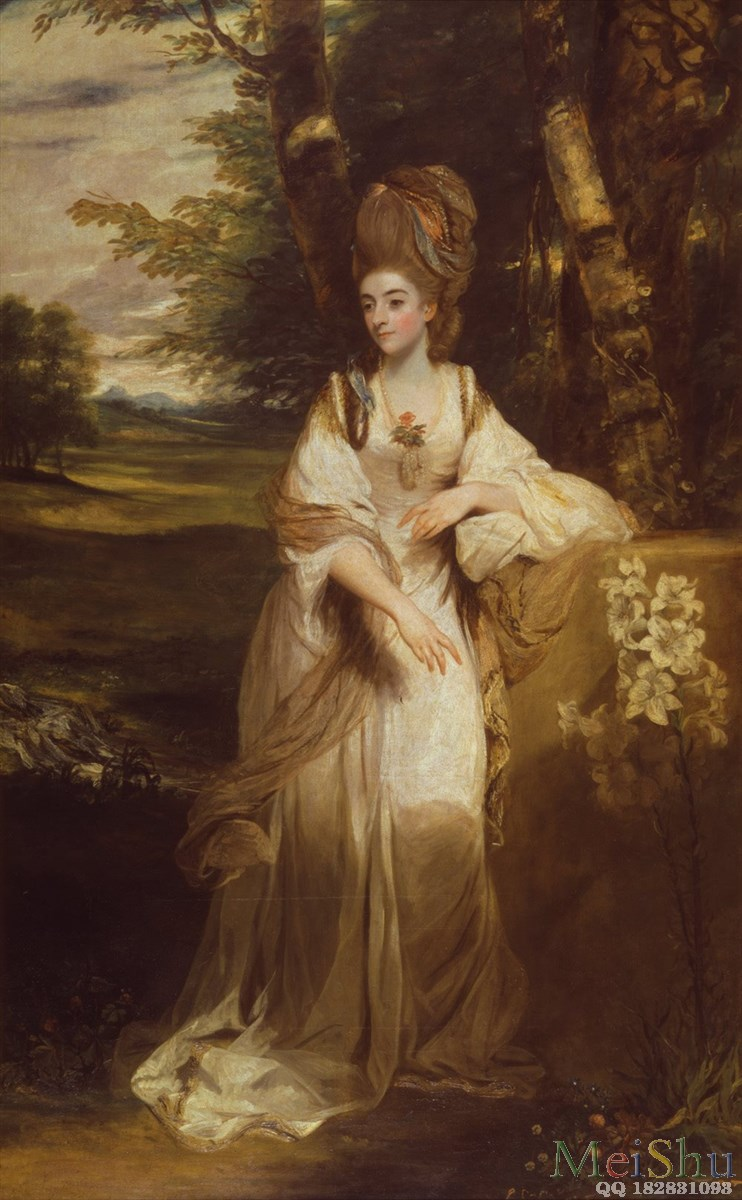 【印刷级】YH4130486油画美女美人少女人物图片Sir_Joshua_Reynolds_-_Lady_Bampfylde_-_Google_Art_Project-100M-4666X7544