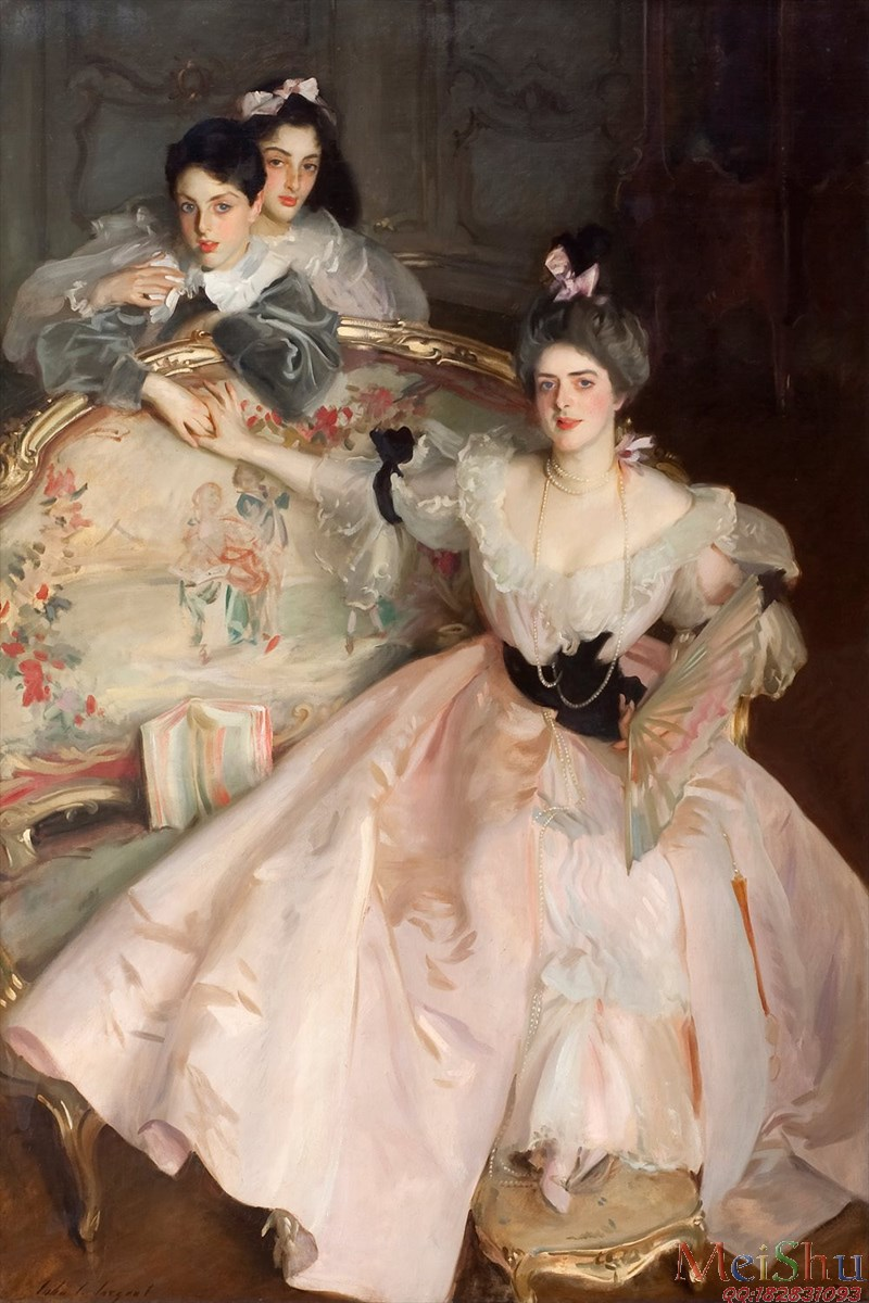 ¡¾Ó¡Ë¢¼¶¡¿YH4130325ÓÍ»­¹Åµä¹¬Í¢ÈËÎïͼƬJohn_Singer_Sargent_-_Mrs_Carl_Meyer_and_her_Children_-_Google_Art_Project-4