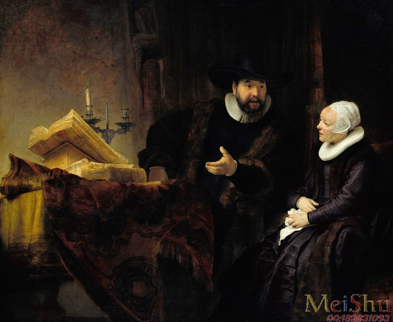 ��ӡˢ����YH4129777�ͻ�ͼƬ���ﳡ��Rembrandt_-_The_Mennonite_Preacher_Anslo_and_his_Wife_-_Google_Art_Project-63M