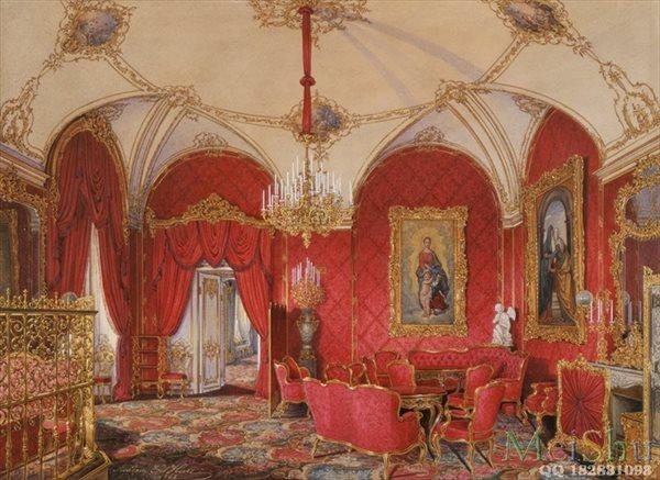 【印刷级】YH50915211油画室内建筑家居图片Hau, Edward Petrovich - Interiors of the Winter Palace. The Fourth Reserve