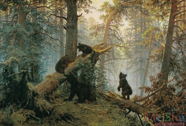 ��ӡˢ����YH50913037�ŵ䶯���л���Ƭ���ܺ���Shishkin, Ivan - Morning in a Pine Forest-62M-5668X3840