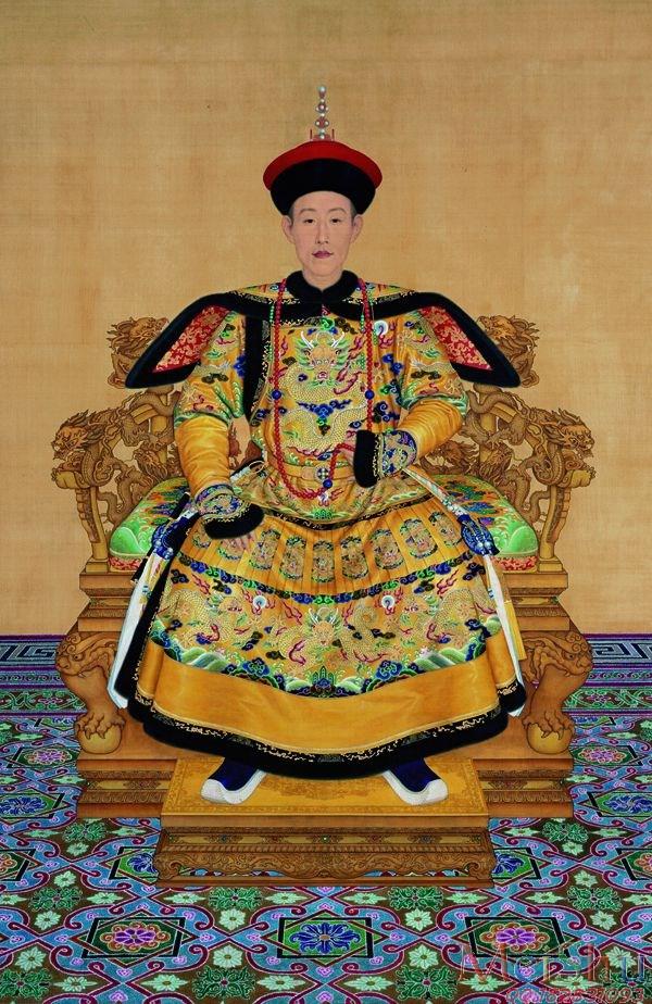 【超顶级】GH6086252古画人物清弘历朝服像立轴图片-486M-9071X13967