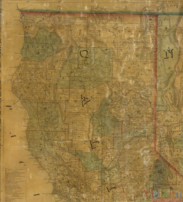 【超顶级】ZSH42217247地图装饰画图片-Map of the States Of California And-196M-7888X8704