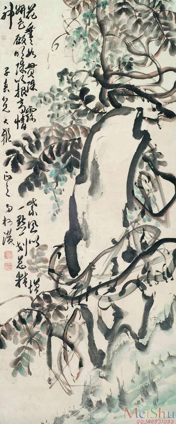 【欣赏级】JXD6163658近现代高仿名家国画花鸟花卉植物立轴图片-20M-1500X3617