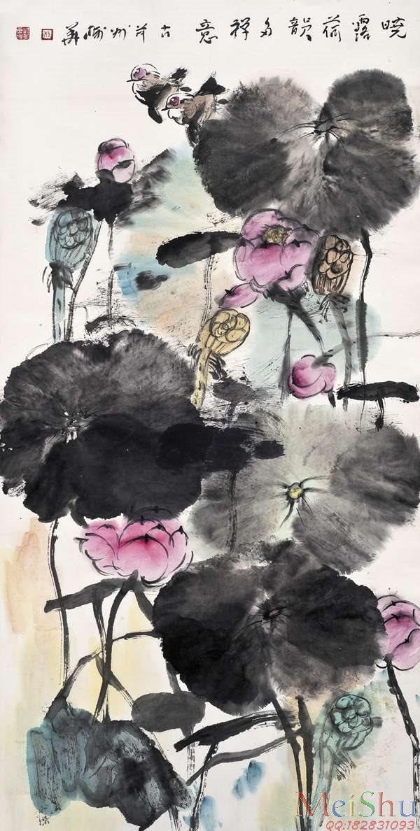 【印刷级】JXD6163275近现代高仿名家国画花鸟花卉植物立轴图片-119M-4601X9112