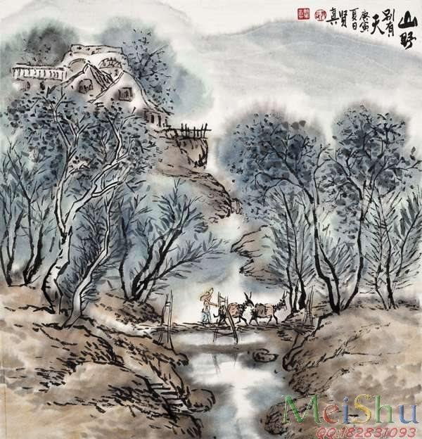 【打印级】JXD6161507近现代高仿国画山水风景小品图片-41M-3740X3890