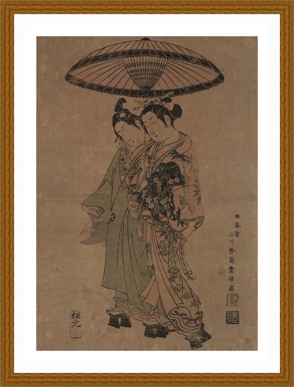 【超顶级】RBH9112786-日本人物美女-撑伞的仕女女人日本浮世绘近现代高清图片-195M-6937X9850_376152