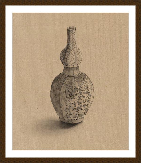 【打印级】RBH9115946-戏画简笔-葫芦瓶瓷器日本浮世绘近现代高清图片-31M-3068X3624