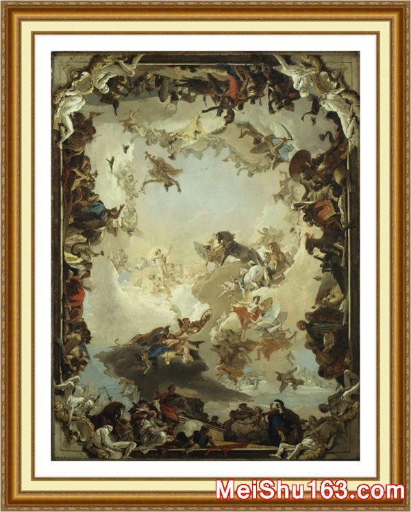 ����ӡ����YH1163058-�ڽ�����-Giovanni Battista Tiepolo��Allegory of the Planets and Continents���Ჩ���ŷ��������������