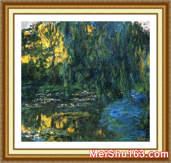 ║╬пюим╪╤║©YH1152420-╥Г╬╟ож╢З-Claude Monet Weeping Willow and WaterLily Pond detail е╥цю╦ъгЕнЗеГд╚╢Рс║к╒м╪╟╦╣Гвс╦Ем╪ф╛-10M-2000