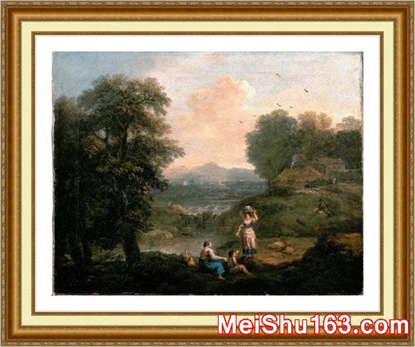 【欣赏级】YH1151283-风景人物-风景 最新高清油画印刷素材图片-14M-2501X1953
