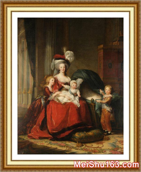 【白金超顶级】YH1188112油画凡尔赛宫玛丽 路易斯 伊丽莎白 法国绝代艳后玛丽 安托瓦内特 德洛林和她的四个孩子 贵重高清晰最高质量世界名画电子文件下载-2004M-23352X30000