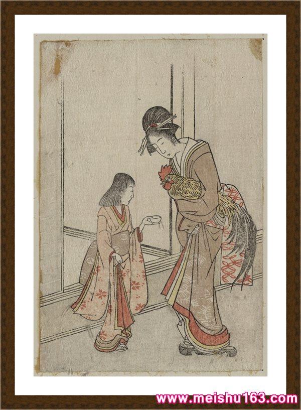 【欣赏级】RBH11243039-戏画人物-喷墨印刷高档电子图库日本画图片-19M-2137X3131
