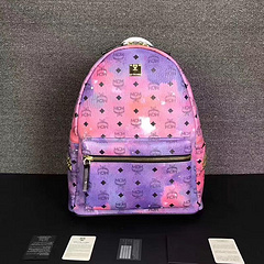 MCM Men's and Women's Bags 16 Rows Double Studs Backpacks