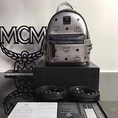 MCM Men's and Women's Bags Backpacks Shoulder Bags New Diamond Square Studs Side Studs