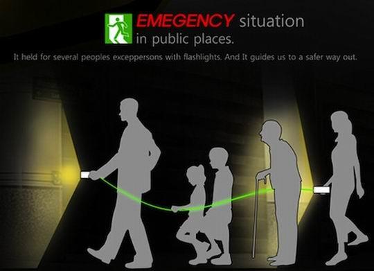 防失踪手电筒