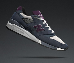NB new balance 998 定制运动鞋美产深蓝紫36--44