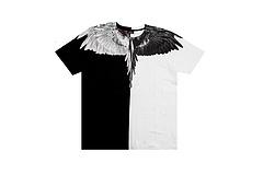 Marcelo burlon 黑白阴阳翅膀短袖