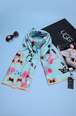 Ugg pure cashmere women's scarf 17398-SYGR green butterfly beeng album