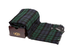 Ugg scarf double-sided scarf green plaid beeng album