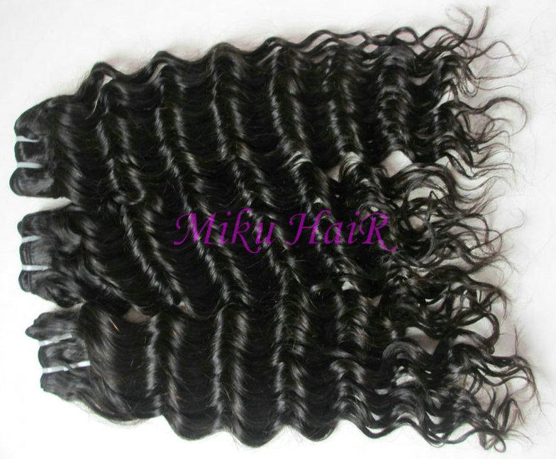 16& 34 8oz virgin brazilian remy hair weft weave deep wave