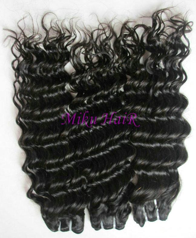 2pks 18inch remy brazilian virgin hair weft deep wave