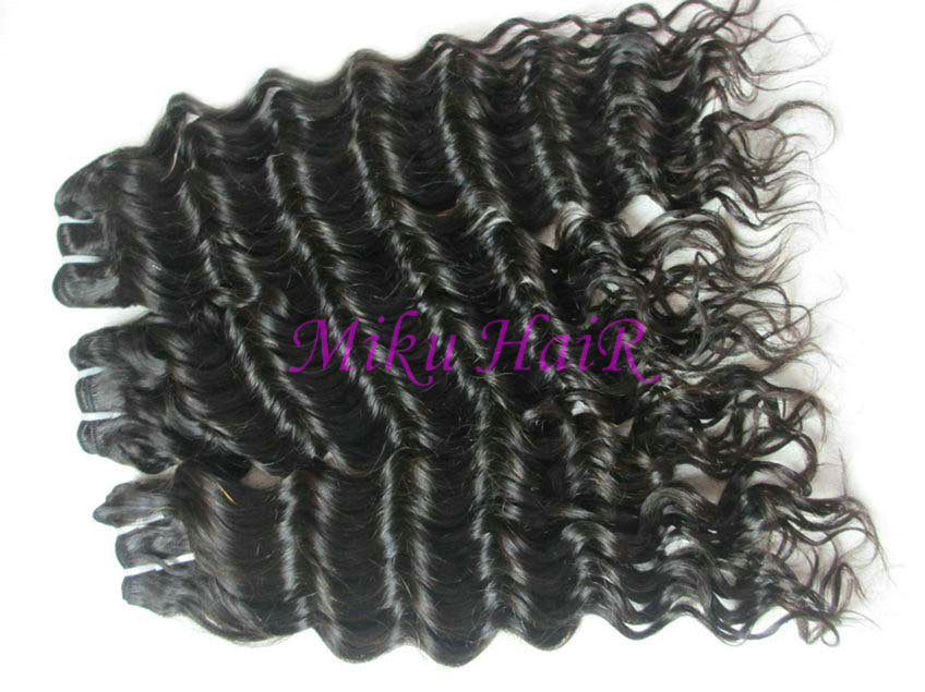 14& 34 16& 34 18& 34 mix size virgin brazilian hair weave deep wave