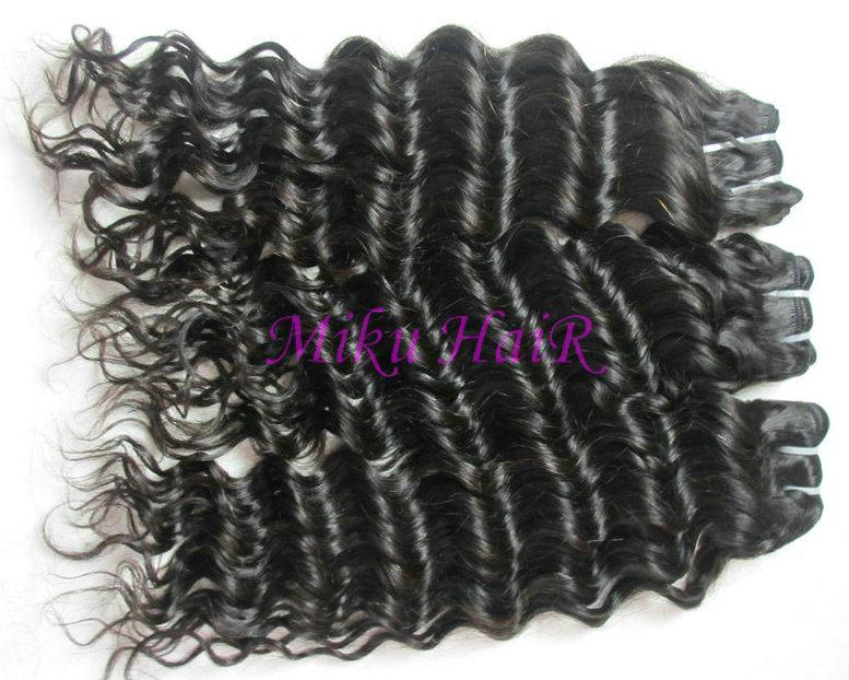 16& 34 18& 34 20& 34 3pks virgin brazilian remy hair weft deep wave