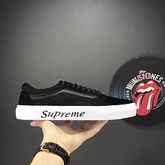 Vans/万斯联名 字母鞋联名 网络黑格Vans Old Skool 字母鞋supreme联名休闲鞋35-44