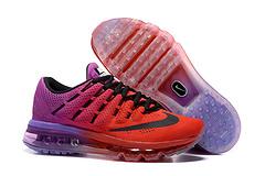 qq红包秒抢软件 Nike Air Max 2016 网面 2016max2016 全掌气垫鞋 36#---40#深红紫