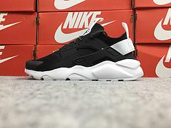 公司货 亚博集团华莱士四代亚博集团华莱士4代 Nike Air Huarache Run Ultra 黑白拼色 819685-018