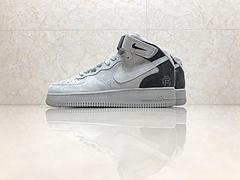 市面最高版本!亚博集团空军一号Nike Air Force1 x Reigning Champ卫冕冠军中帮 联名 灰暗灰灰底 807618-208 质感麂皮 内置气垫