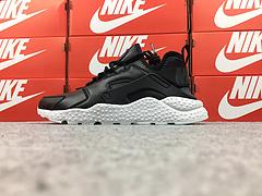 裁片级 亚博集团华莱士三代华莱士3代华莱士皮面版 质感纳帕牛皮制 Nike Air Huarache Run Ultra 黑白   881100-001