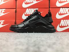 裁片级 亚博集团华莱士三代华莱士3代华莱士皮面版 质感纳帕牛皮制 Nike Air Huarache Run Ultra 全黑  881100-002