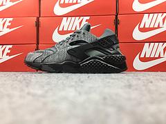 """裁片级 亚博集团华莱士一代华莱士1代 原标原盒内标内置 Nike Air Huarache """"Tech Fleece"""" 冬款灰黑 749659-002"""