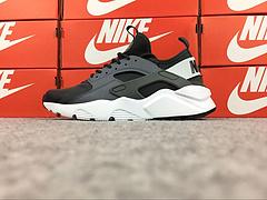 裁片级 亚博集团华莱士四代华莱士4代 Nike Air Huarache Run Ultra GS 透气网面 灰黑 真标原盒内置气垫 40-46 847569-008