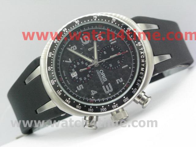 1高仿 豪利时 Oris 黑色碳纤维 优质橡胶表带 男士腕表