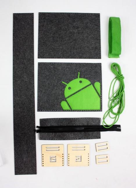 带有Android标志的包包